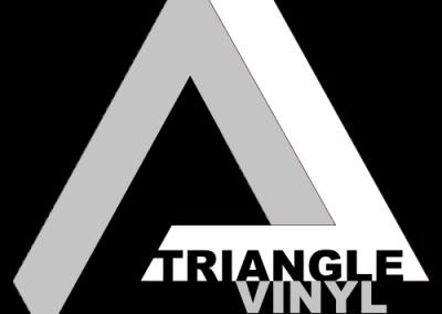 triangle vinyl logo title grey