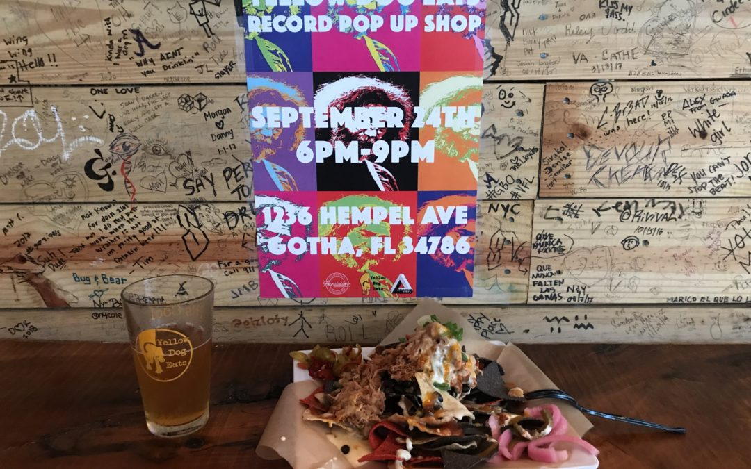 Yellow Dog Eats Pop Up Record Shop 9/24 6-9pm Gotha FL