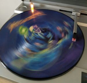 Megadeth Rust In Peace Picture Disc on Turntable, Spinning