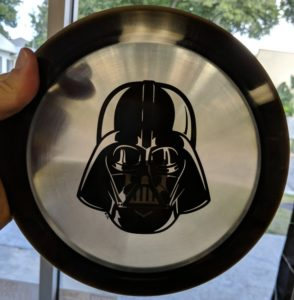 darth vader disc golf disc