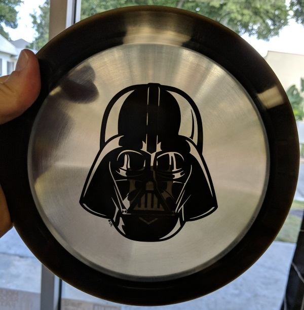 Darth Vader Disc Golf Disc Vinyl Records Store